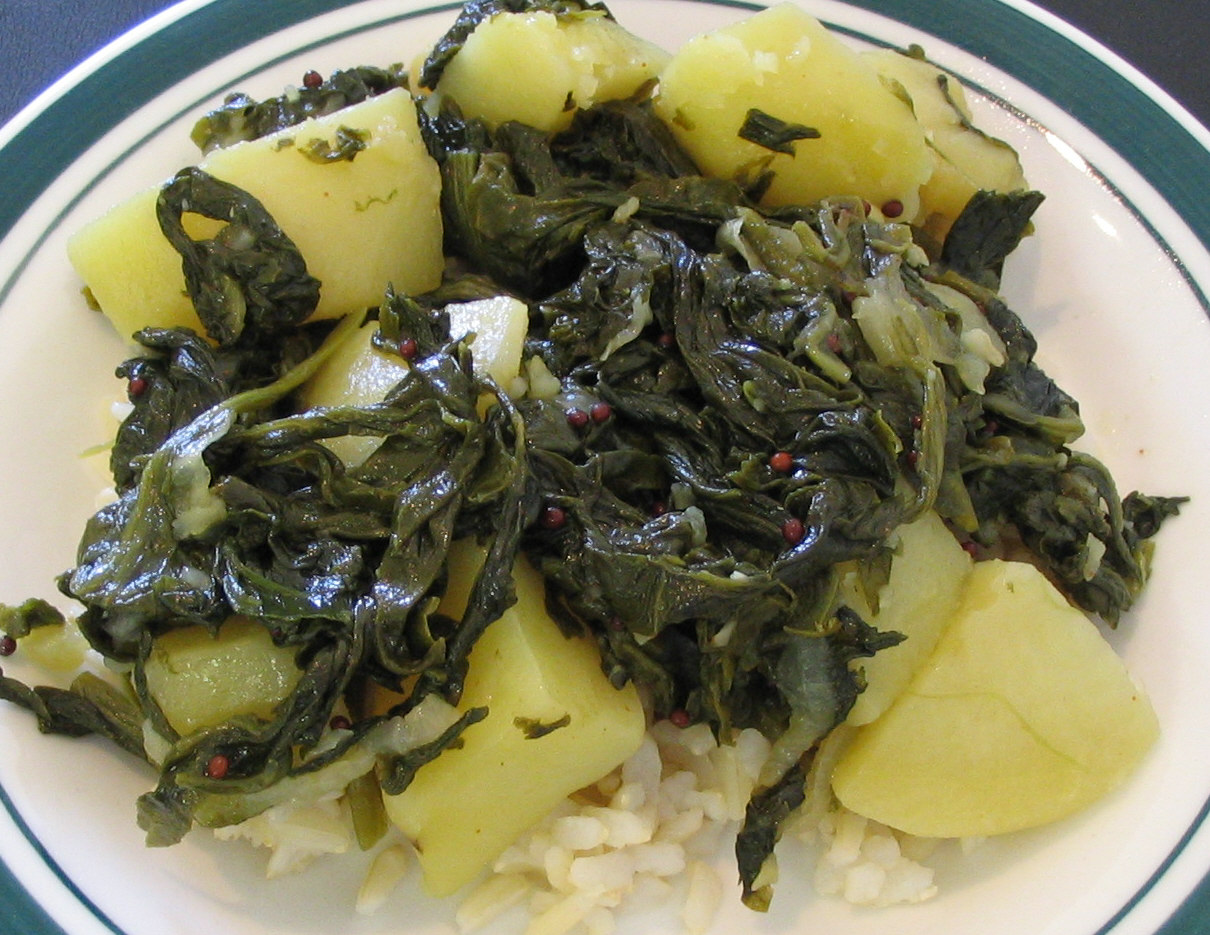 ... by Madhur Jaffrey: Frozen Spinach With Potatoes (Saag aloo) Review